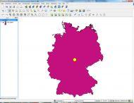 Räumliche Analyse in einem GIS - Berechung des Mittelpunktes von Deutschland